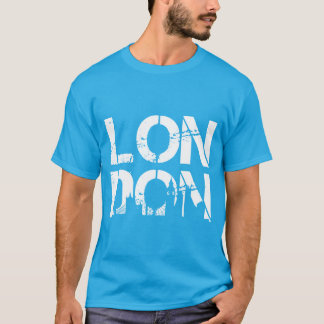 Distressed London With famous landmarks Silhouette T-Shirt