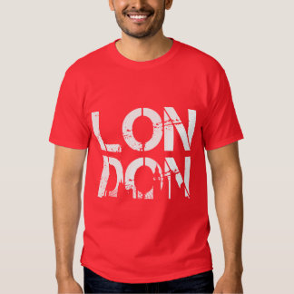 Distressed London With famous landmarks Silhouette T Shirt