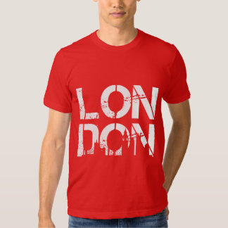 Distressed London With famous landmarks Silhouette Tshirts
