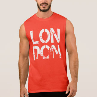 Distressed London With landmarks Very Cool Sleeveless Tees