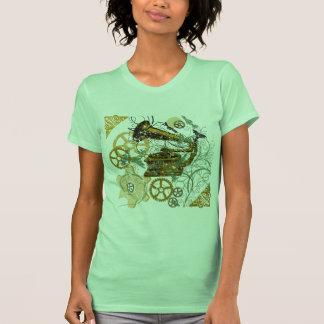Distressed Look Steampunk Design T-Shirt