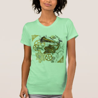 Distressed Look Steampunk Design Tshirts