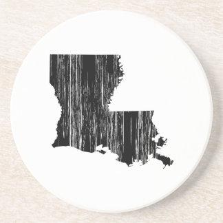 Distressed louisiana State Outline Coaster