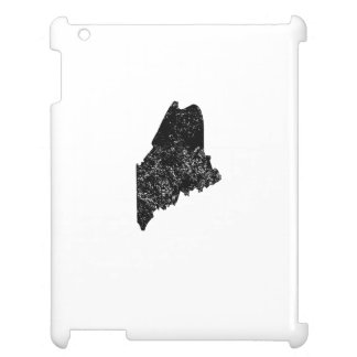 Distressed Maine Silhouette iPad Cover