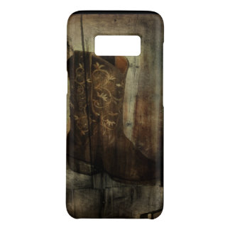 Distressed Man Cave Western Country Cowboy Boot Case-Mate Samsung Galaxy S8 Case