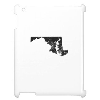Distressed Maryland Silhouette Case For The iPad