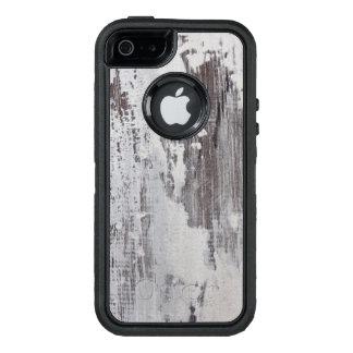 Distressed Maui Whitewashed Oak Wood Grain Look OtterBox iPhone 5/5s/SE Case