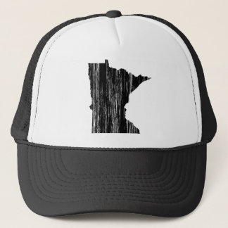 Distressed Minnesota State Outline Trucker Hat