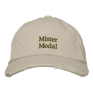"""Distressed """"Mister Modal"""" cap Embroidered Hat"""