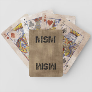 Distressed MSM Playing Cards