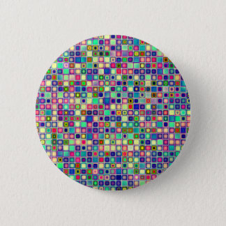 Distressed Multicolored 'Gumdrops' Tiles Pattern 6 Cm Round Badge