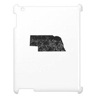 Distressed Nebraska Silhouette Case For The iPad