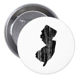Distressed New Jersey State Outline Button