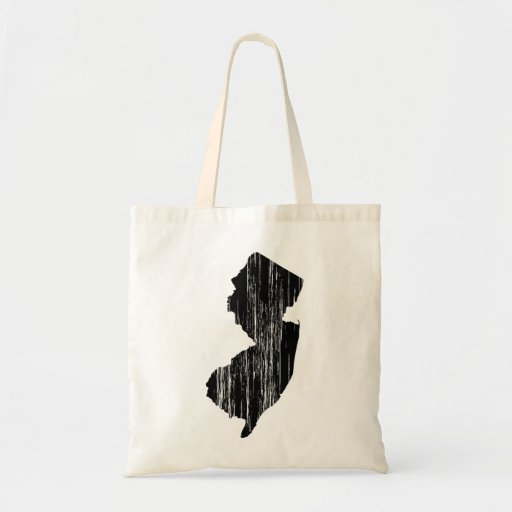 Distressed New Jersey State Outline Bags