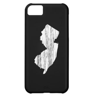 Distressed New Jersey State Outline iPhone 5C Cases