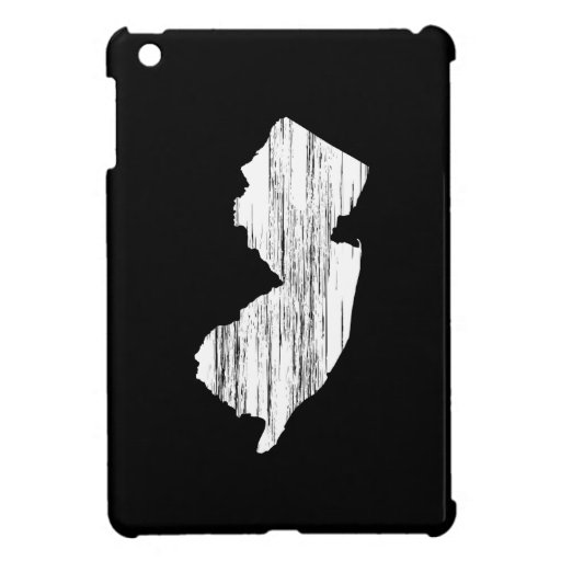 Distressed New Jersey State Outline iPad Mini Cases
