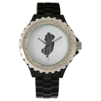 Distressed New Jersey State Outline Wristwatches