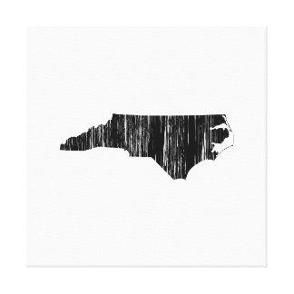 Distressed North Carolina State Outline Canvas Prints