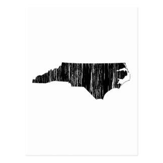 Distressed North Carolina State Outline Postcards