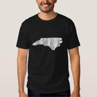 Distressed North Carolina State Outline Shirts