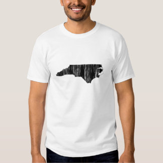 Distressed North Carolina State Outline T-shirts