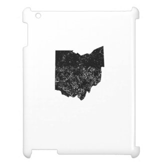 Distressed Ohio Silhouette Cover For The iPad 2 3 4