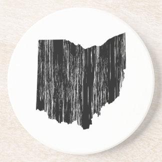 Distressed Ohio State Outline Coaster