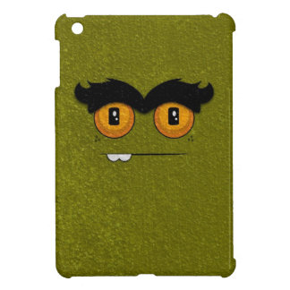 Distressed Olive Funny Face Unibrow Monster iPad Mini Case
