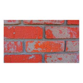 Distressed Orange Brick Business Cards