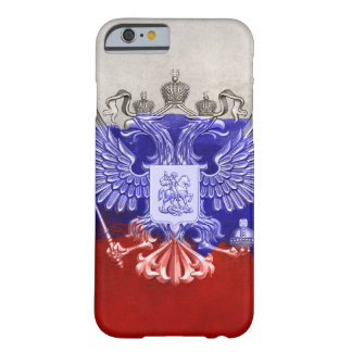 Distressed Painted Flag of Russia with Eagle Barely There iPhone 6 Case