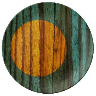 Distressed Palau Flag Plate