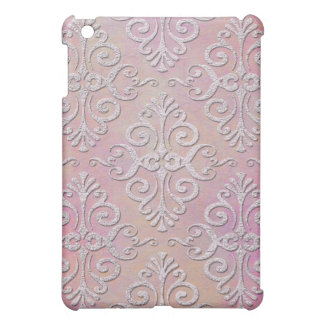 Distressed Pale Pink Damask Case For The iPad Mini