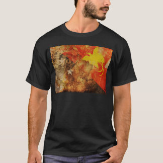 Distressed Papua New Guinea Flag T-Shirt