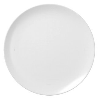 Distressed Peace Sign White Plate