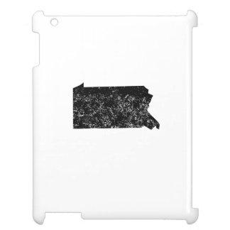 Distressed Pennsylvania Silhouette iPad Case