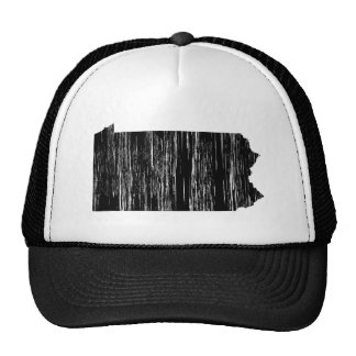 Distressed Pennsylvania State Outline Hats