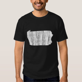 Distressed Pennsylvania State Outline T-shirts