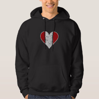 Distressed Peruvian Flag Heart Hoodie