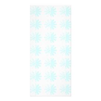 Distressed Petal Snowflake  Modern Pattern Custom Rack Cards