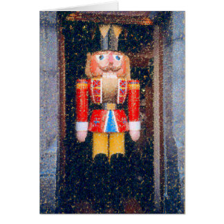 """DISTRESSED"" PHOTO OF TRADITIONAL NUTCRACKER GREETING CARD"