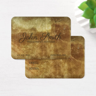 Distressed Photography Stained Ancient Background Business Card