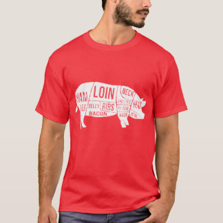 Distressed Pig Parts and Cuts T-Shirt