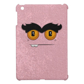 Distressed Pink Funny Face Unibrow Monster iPad Mini Covers