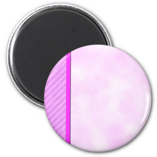 Distressed Pink Stripes Customizable Magnets