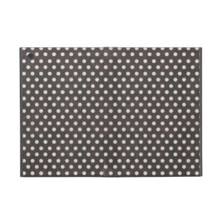 Distressed Polka Dot Pattern in Charcoal & White iPad Mini Case