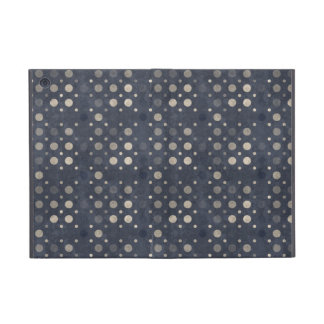 Distressed Polka Dot Pattern in Dark Blue & Beige iPad Mini Case