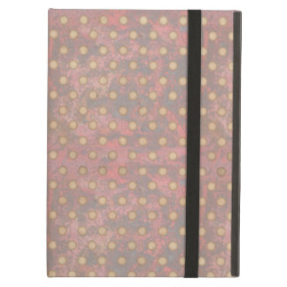 Distressed Polka Dot Pattern in Pink and Beige iPad Air Cover