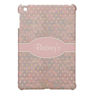 Distressed Polka Dot Pern in Pink and Beige iPad Mini Case