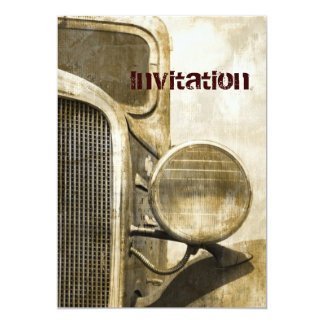 Distressed Primitive Rustic country old farm truck Card