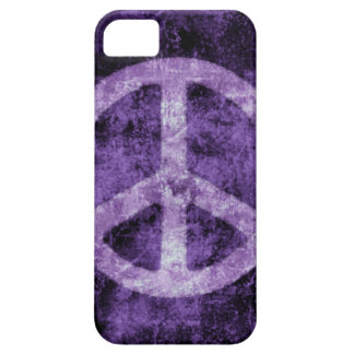 Distressed Purple Peace Sign iPhone Case